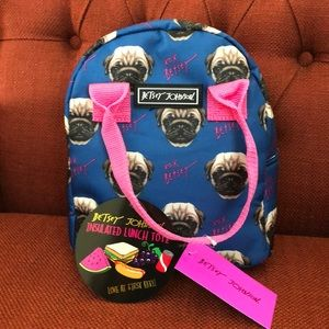 Betsey Johnson Insulated Lunch Tote Dark Blue